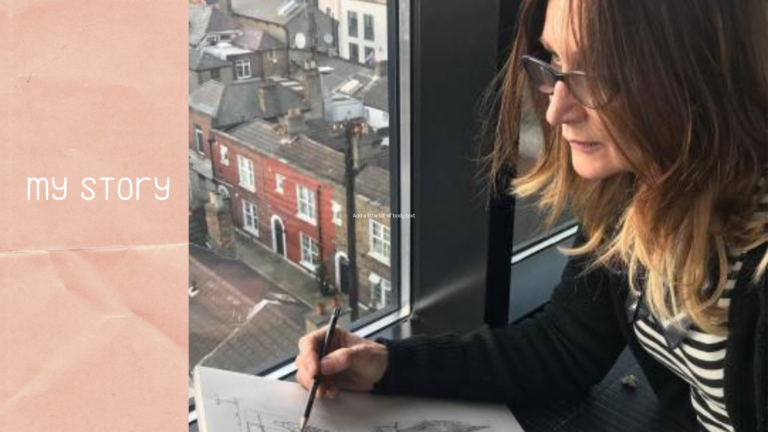 Adrienne Geoghegan drawing on location