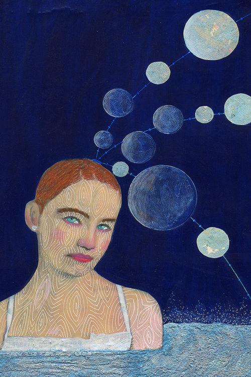 Blue Moon, Collage, Adrienne Geoghegan