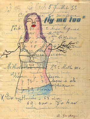 Fly Me Too, collage by Adrienne Geoghegan